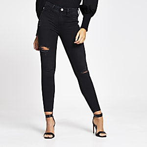 Zwarte ripped denim Molly jeggings