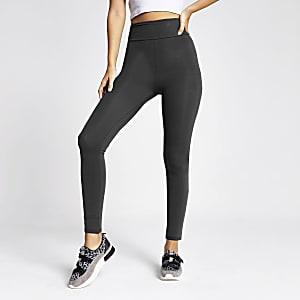 Donkergrijze legging met hoge taille