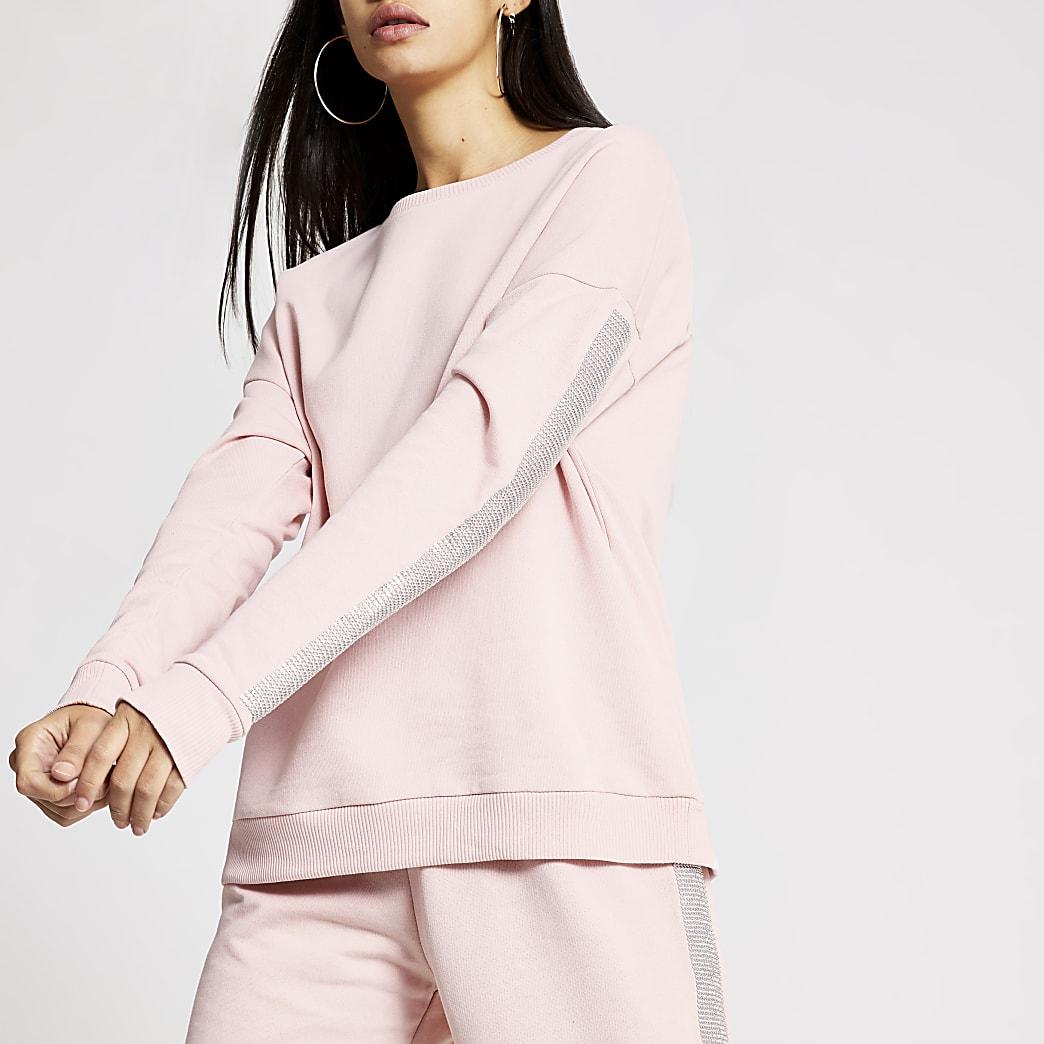 Pink diamante long sleeve sweatshirt