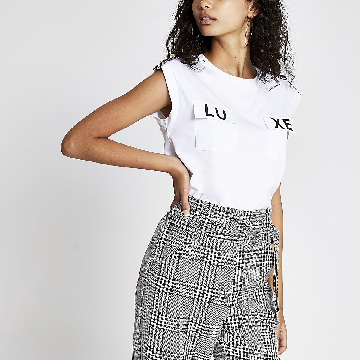 Luxe - Wit T-shirt met zakken