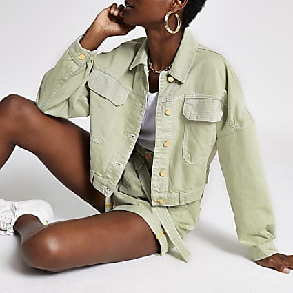 Light green denim jacket