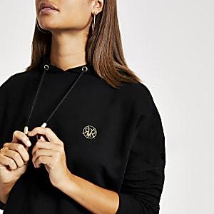 Black batwing sleeve hoodie