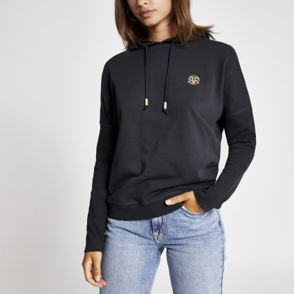 Dark grey batwing sleeve hoodie