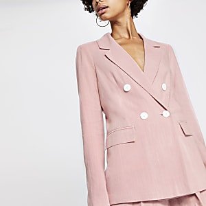 Light pink boyfriend blazer