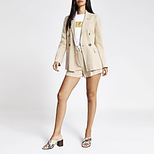 Dark cream boyfriend blazer