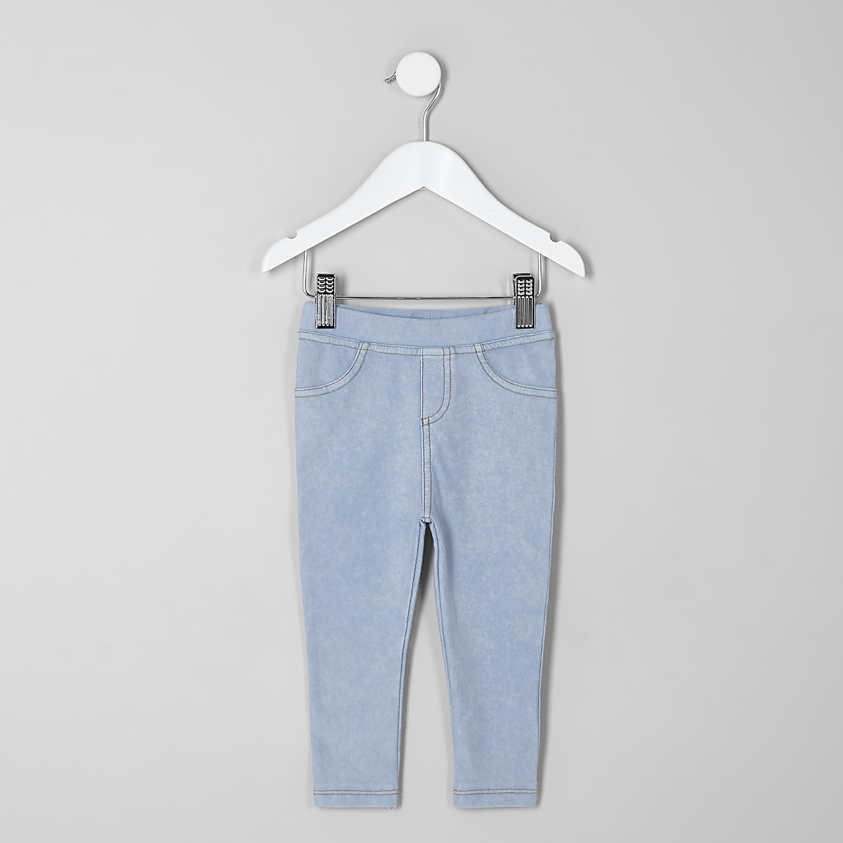Jeans-Leggings in heller Waschung