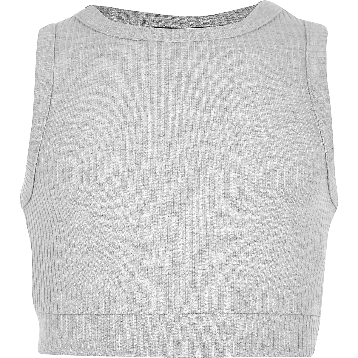 e09f375cf2d Girls grey marl ribbed crop top - Crop Tops - Tops - girls