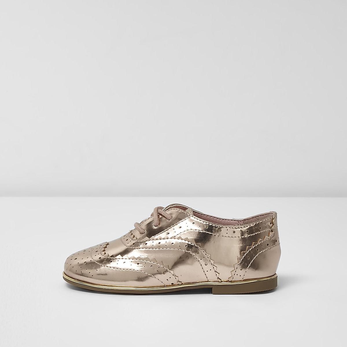 437fc5947ac9 Mini girls metallic gold brogues - Baby Girls Shoes - Baby Girls Shoes    Boots - Mini Girls - girls