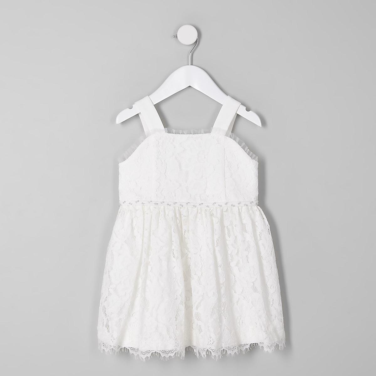 3f90e8c582f Mini girls white lace flower girl dress - Baby Girls Dresses - Mini Girls -  girls
