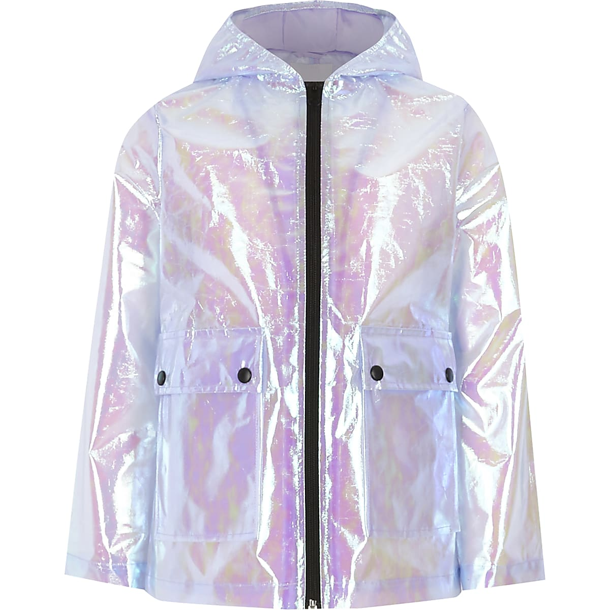 3b75ad242ad5 Girls purple iridescent rain mac - Jackets - Coats   Jackets - girls