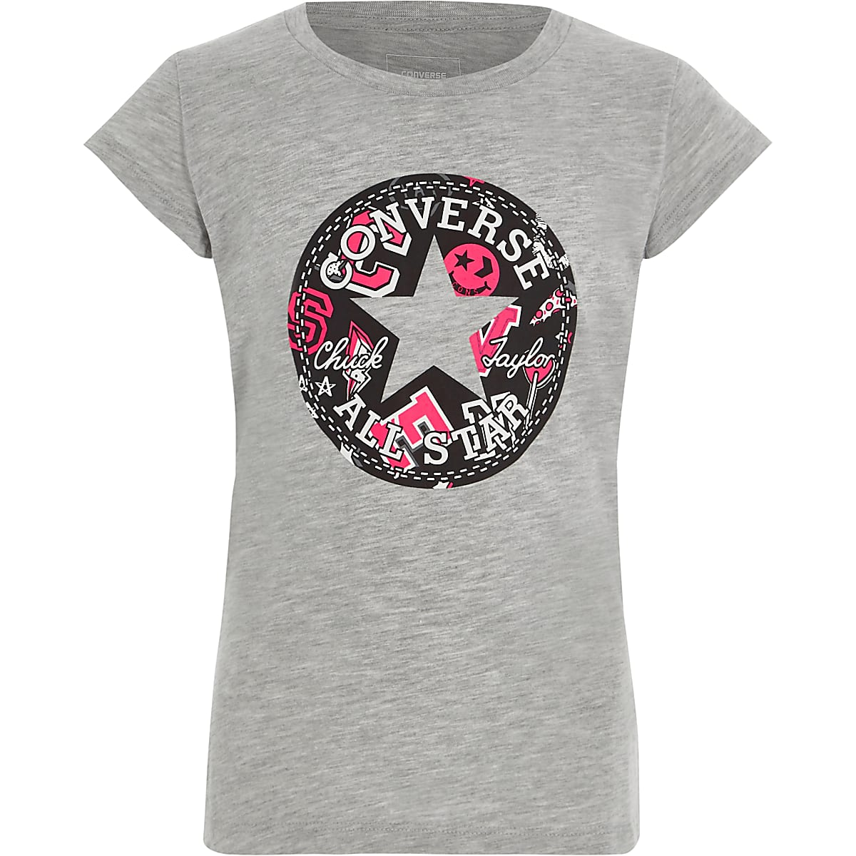 7ae9815d2dc6 Girls Converse grey  All Star  print T-shirt - T-Shirts - Tops - girls