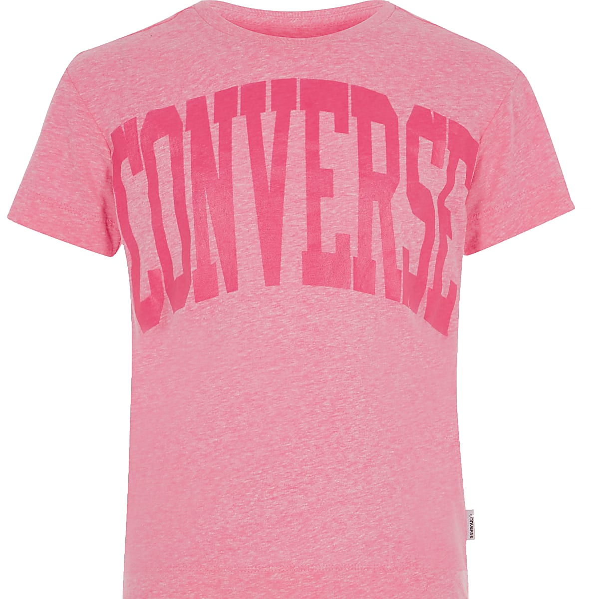 Girls Converse pink print T-shirt