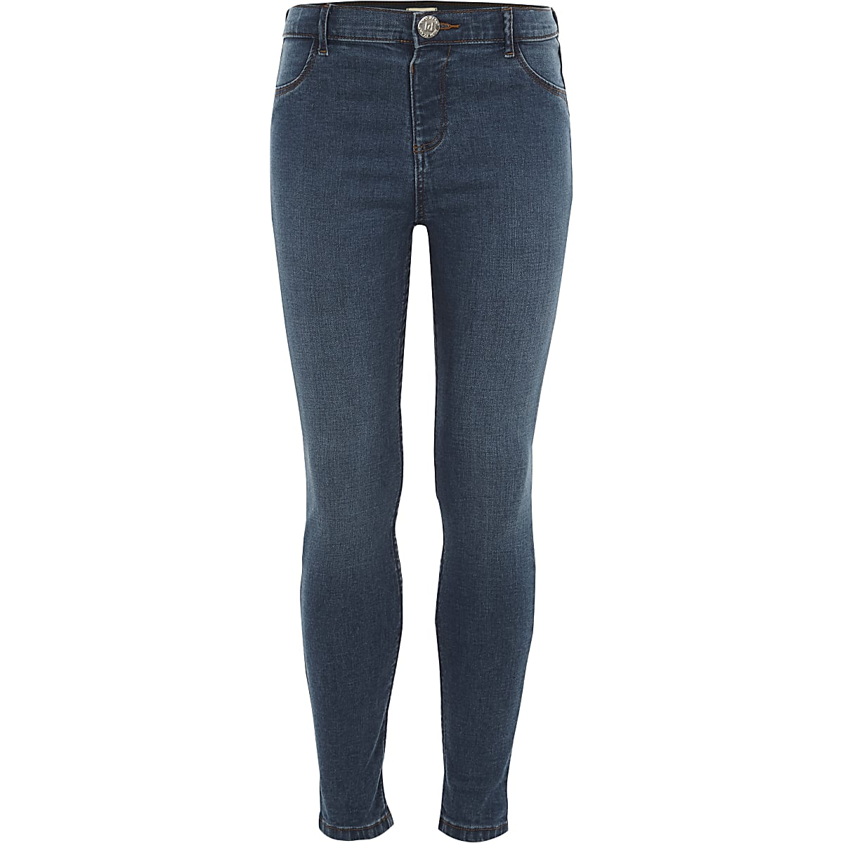 Girls blue Molly skinny jeggings