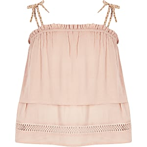 Pinkes, doppellagiges Camisole