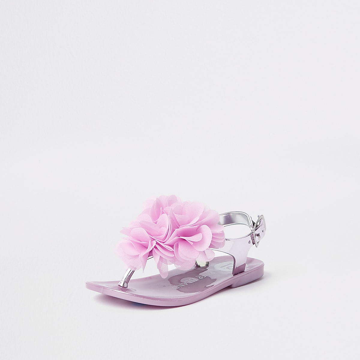 Pink Sandal Jelly Girls Metallic Mini Corsage NP0kXwO8nZ
