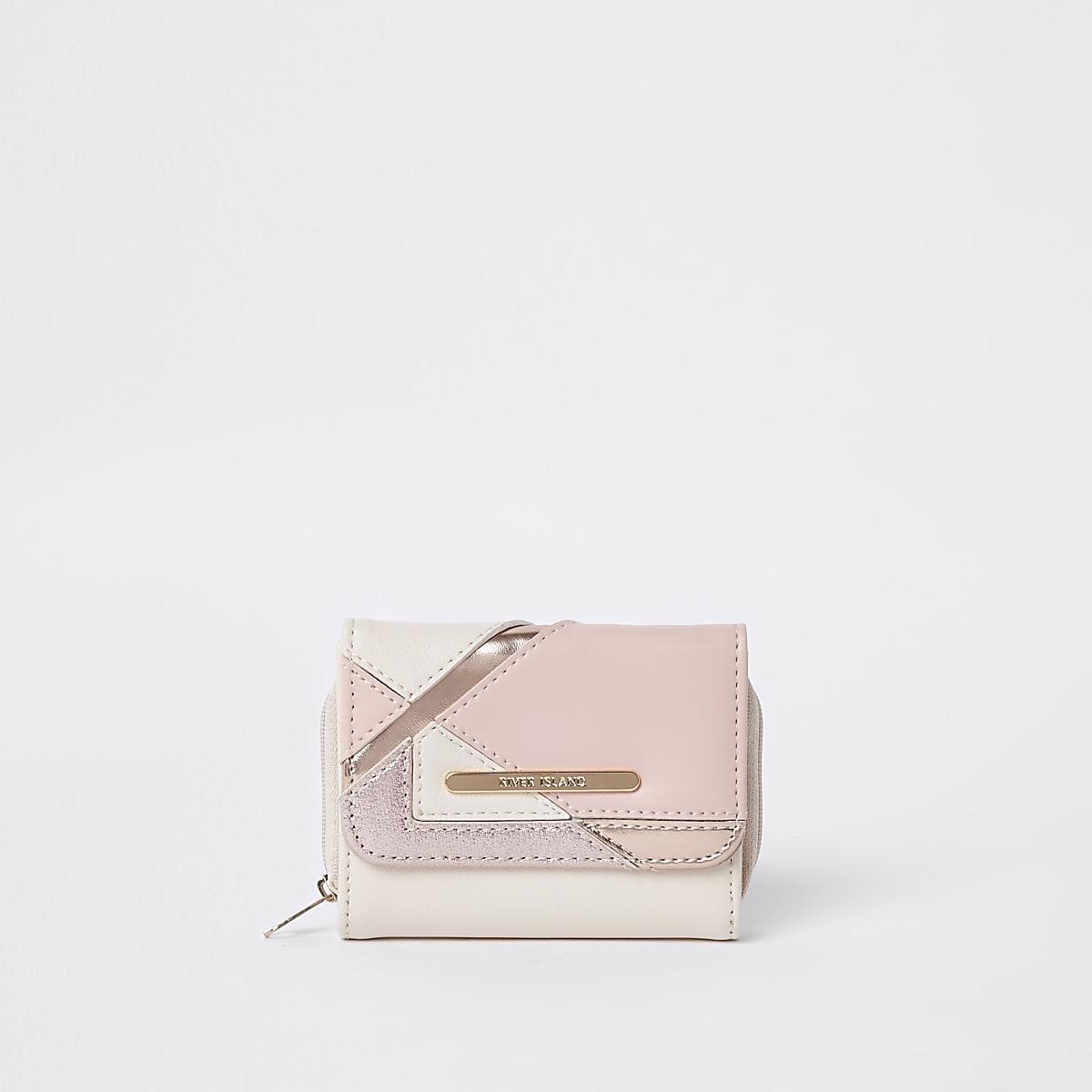 Girls pink metallic glitter foldout
