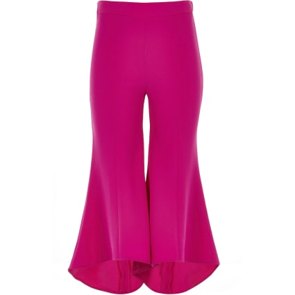 Girls bright pink RI Studio flared trousers