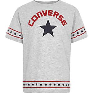 Converse - Grijs T-shirt met sterren op de zoom