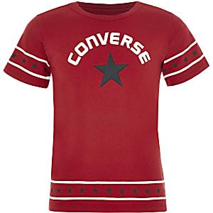 Converse - Rood T-shirt met sterren op de zoom