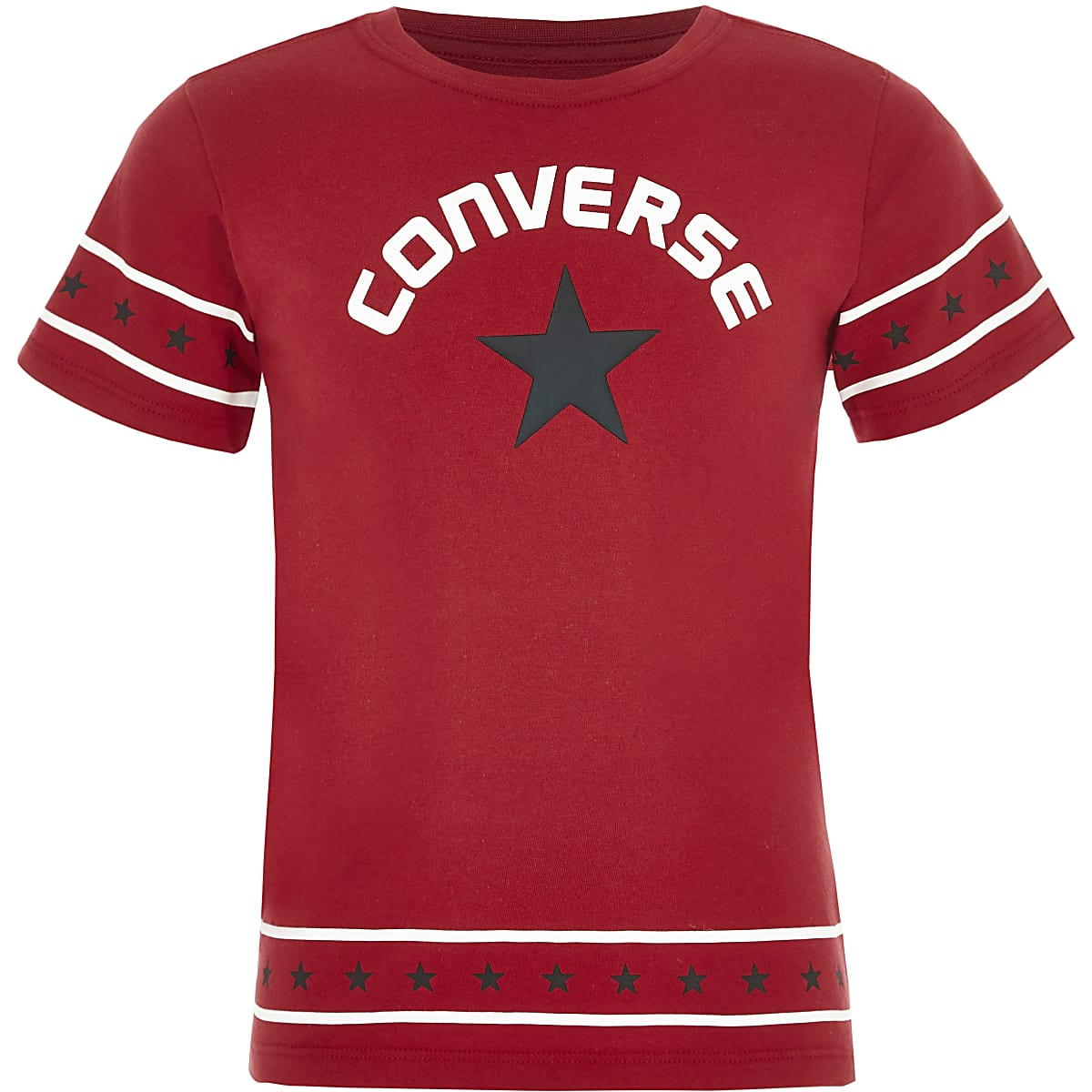 d9aef866da13 Girls Converse red star trim T-shirt - T-Shirts - Tops - girls