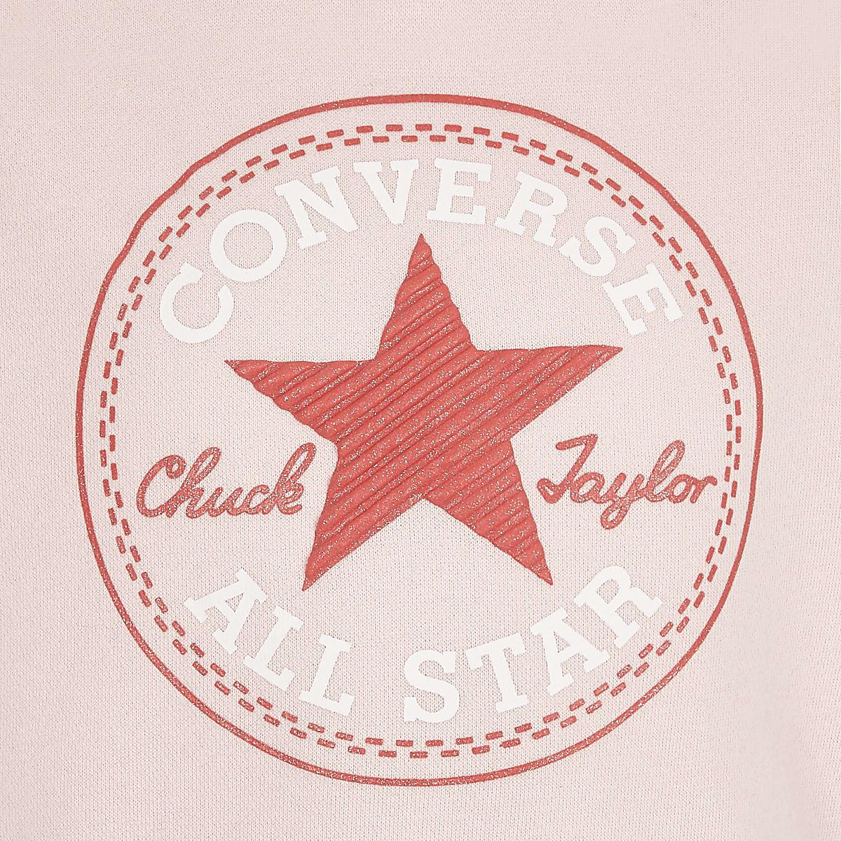 5598883419afc0 Girls Converse pink star print hoodie - Hoodies   Sweatshirts - Tops ...