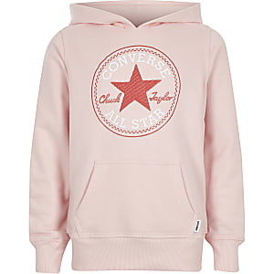 Converse – Rosa Hoodie mit Sternprint
