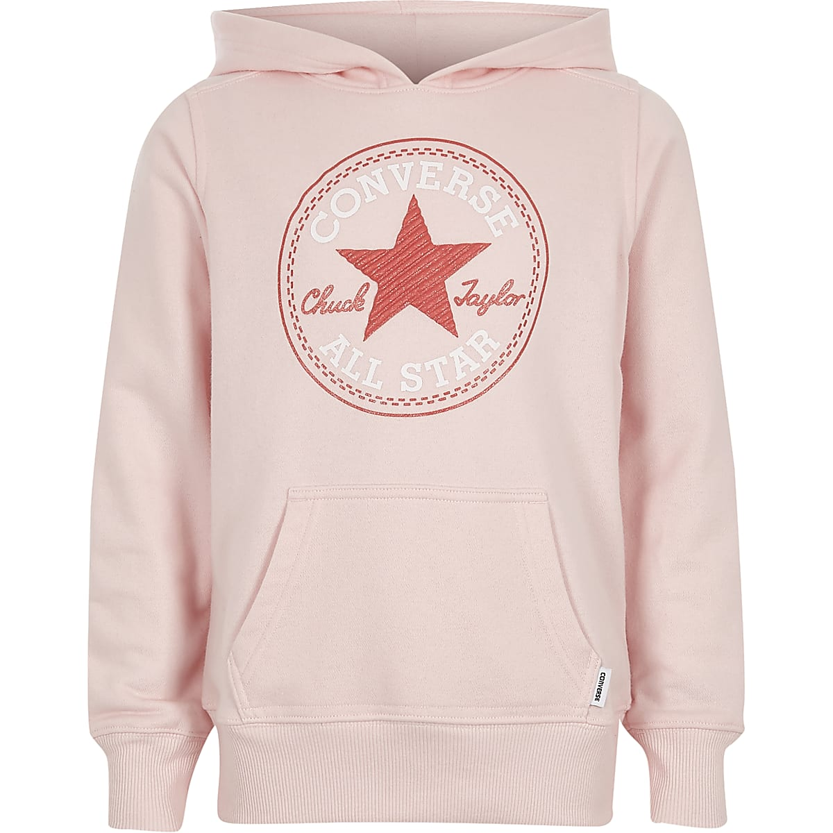 2c67f57cd7d Girls Converse pink star print hoodie