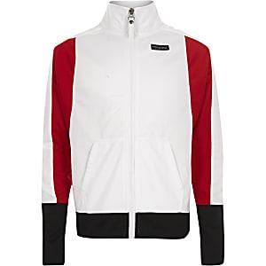 Converse – Veste blanche zippée pour fille