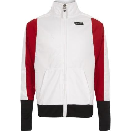 Girls Converse white zip up jacket