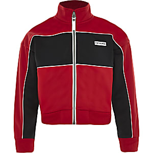 Girls Converse red zip up jacket