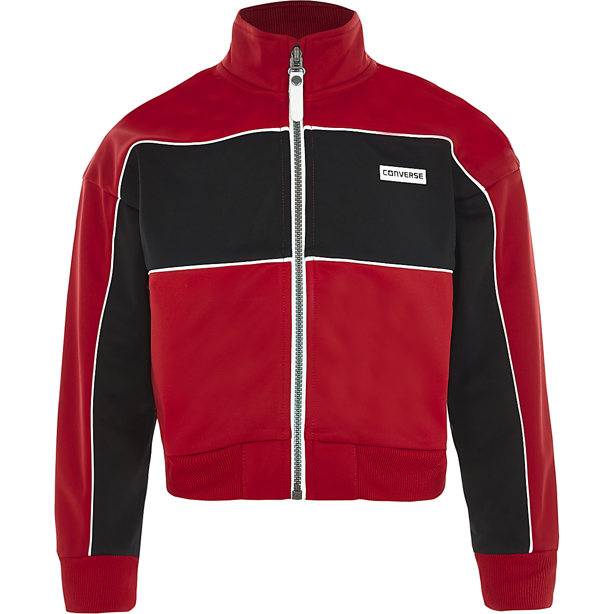 Girls Converse red zip up jacket