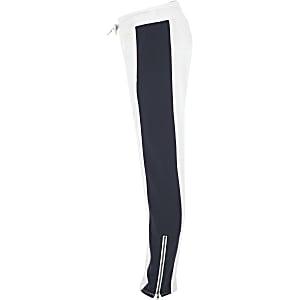 Converse – Pantalon de jogging blanc pour fille