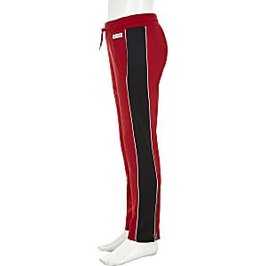 Converse – Pantalon de jogging droit rouge