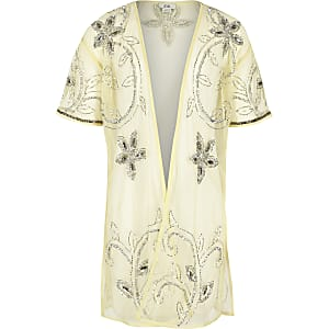 Gelber, langer Kimono
