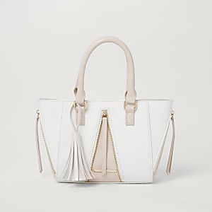 Roze handtas met zij-inzetten voor meisjes