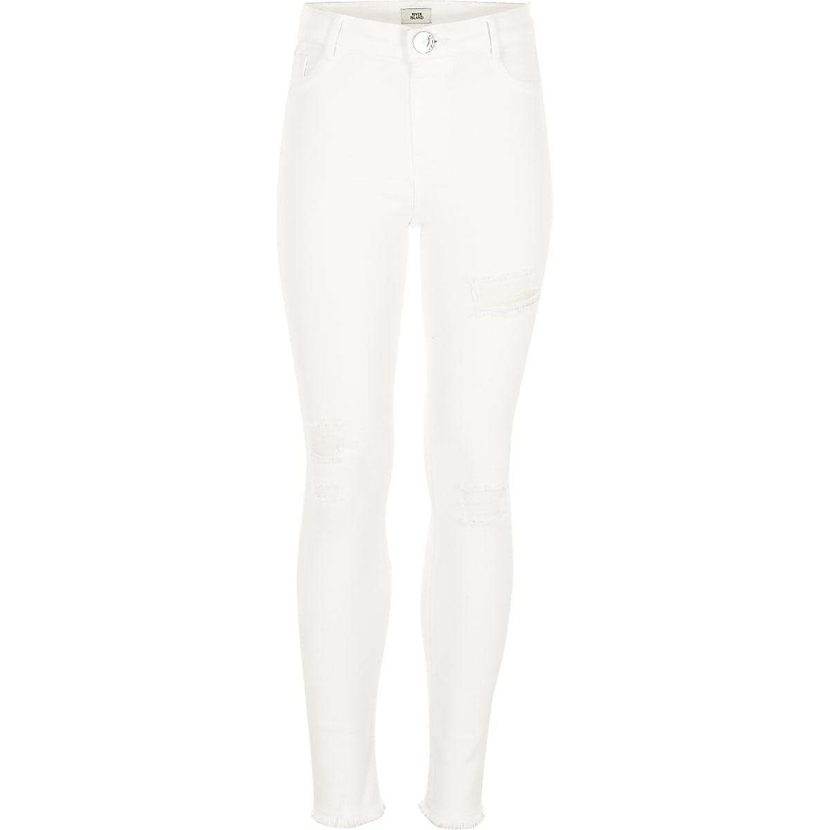 Molly - Witte ripped jegging voor meisjes