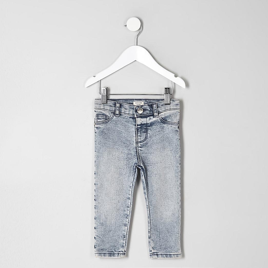 Mini - Acid wash jeans met halfhoge taille voor kinderen
