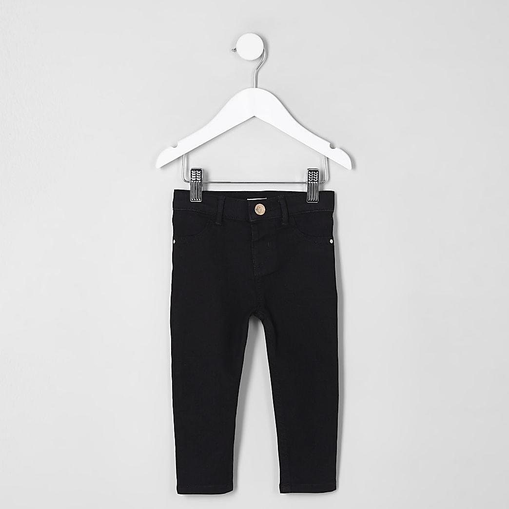 Mini - Molly - Zwarte jegging met halfhoge taille voor meisjes