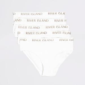 Weiße Unterhosen mit RI-Logo im Set