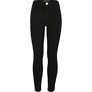 Girls black Molly jeggings