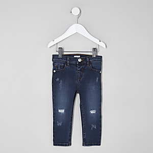 Mini girls blue Amelie distressed skinny jean