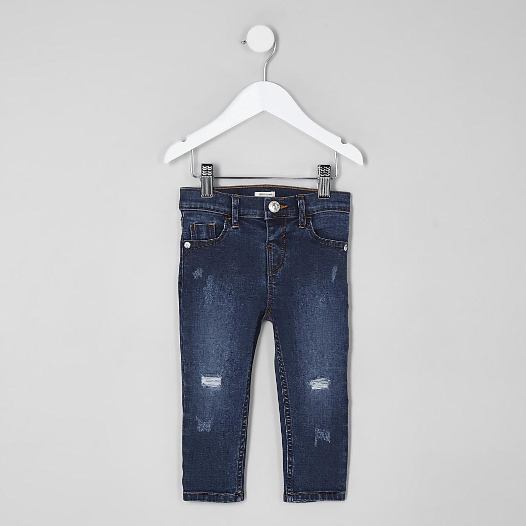Amelie – Blaue Skinny Jeans im Used Look