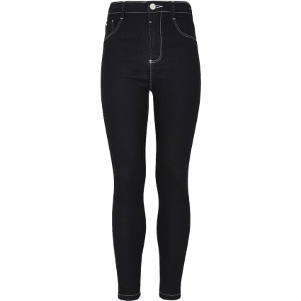 Girls dark blue high rise Molly jeggings