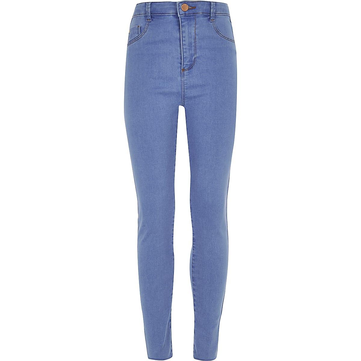 Girls blue Molly high waisted jeggings
