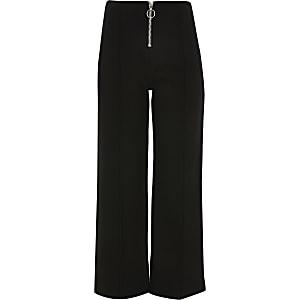 Schwarzer Hosenrock mit Reißverschluss