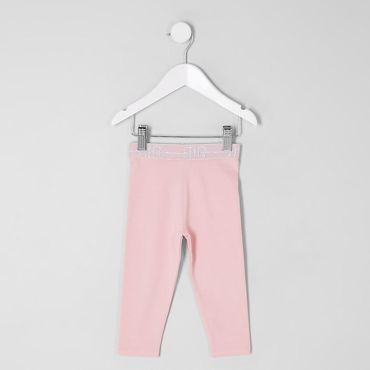 Mini - Roze legging voor meisjes RI-logo
