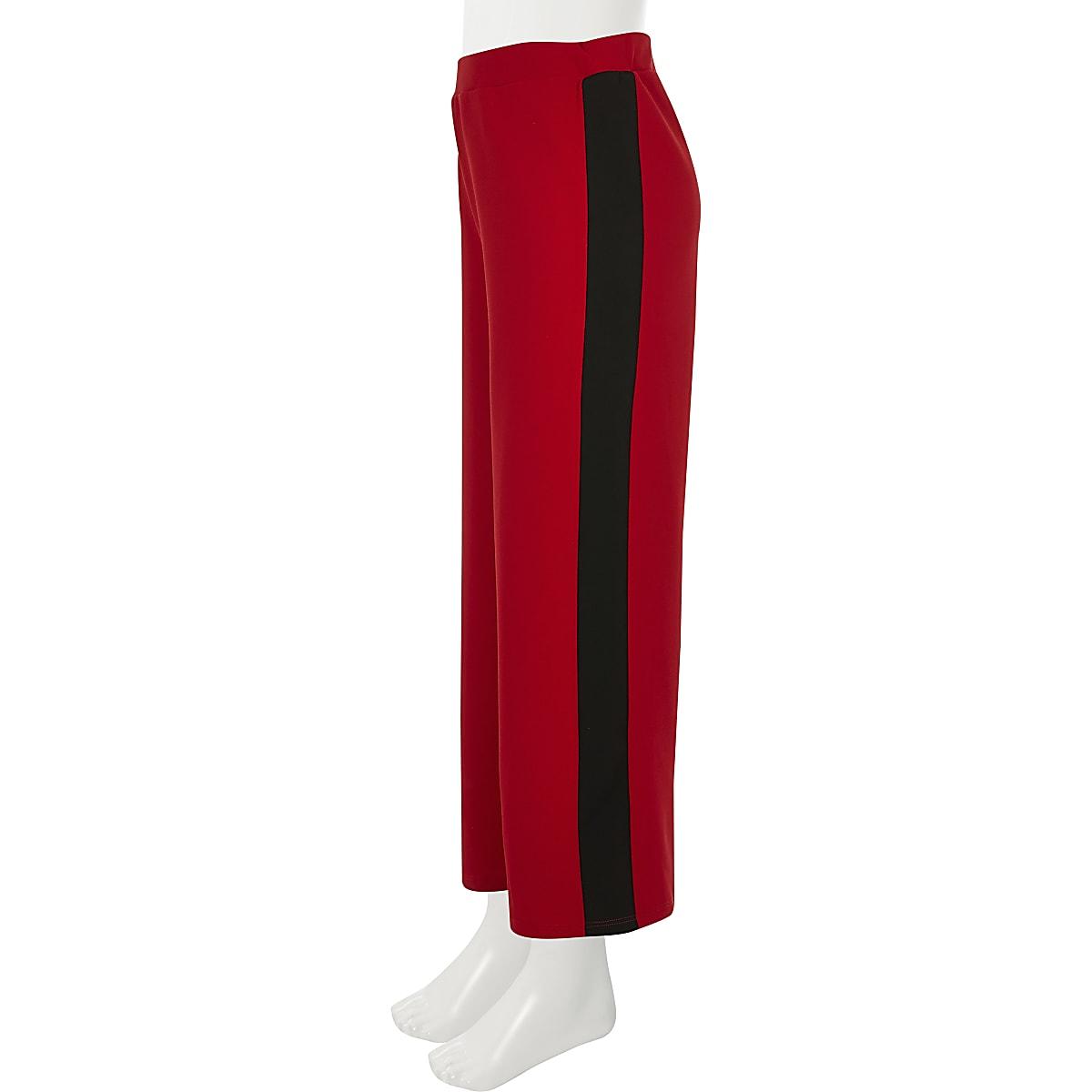 5dd74beb6e6 Rode broek met wijde pijpen en streep opzij voor meisjes - Casual ...