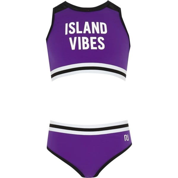 River Island - bikini court « island vibes » violet pour - 1
