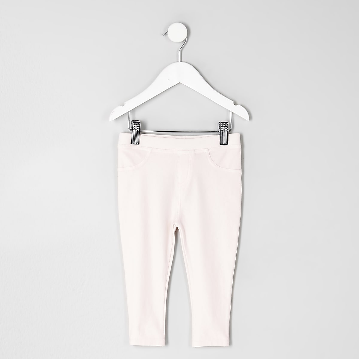 Roze denimlook legging voor mini girls