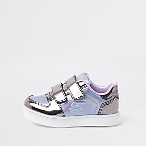 Skechers – Baskets lumineuses violettes mini fille